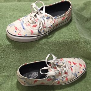 Barely Used Flamingo/Pool Chair Men's Vans Sz 10